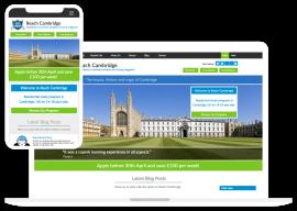 Education web design for Cambridge school.