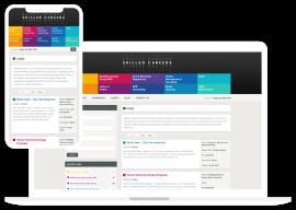 Recruitement web design for London agency.